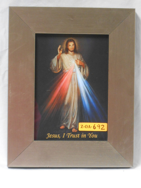 Divine Mercy 5x7 Wide Light Wood-Framed Print