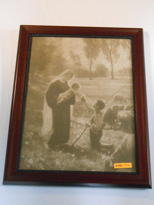 Gift of the Shepherd 12x16 Wood Framed Print