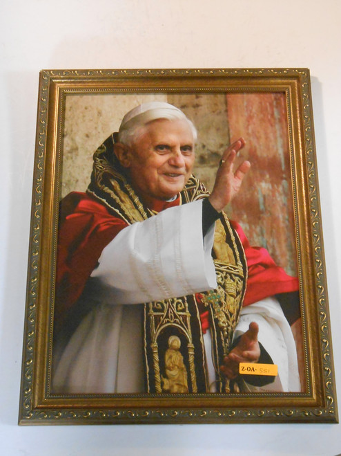Pope Benedict in Blessing 12x16 Framed Print