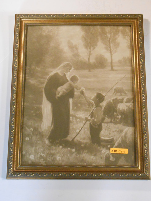Gift of the Shepherd 12x16 Ornate Framed Print