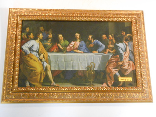 Last Supper by Champaigne 9x16 Framed Print