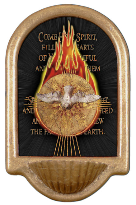 Holy Spirit with Fire Holy Water Font