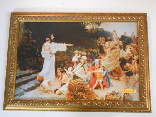 Let the Children Come 12x17 Ornate Framed Print