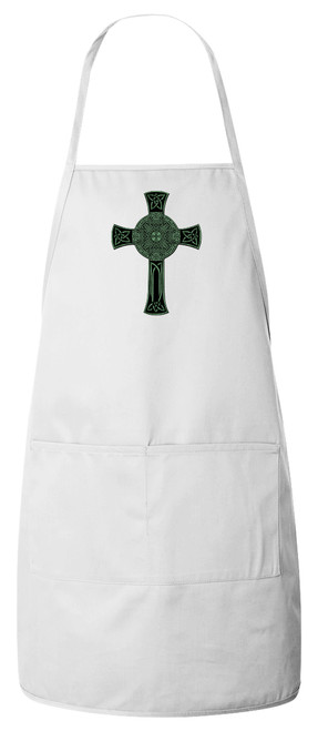 Celtic Cross Apron (White)