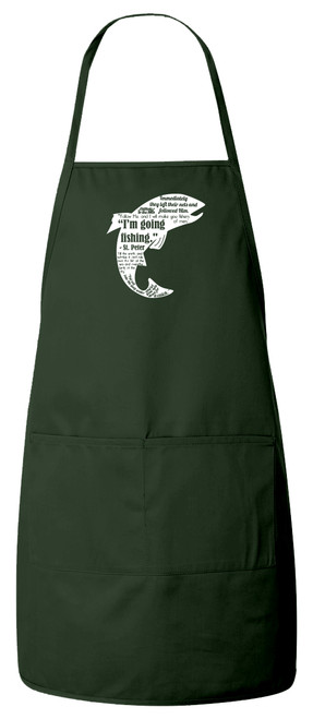 Fishing Quote Apron (Green)