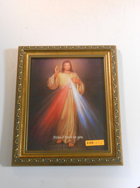 Divine Mercy 8x10 Ornate Framed Print
