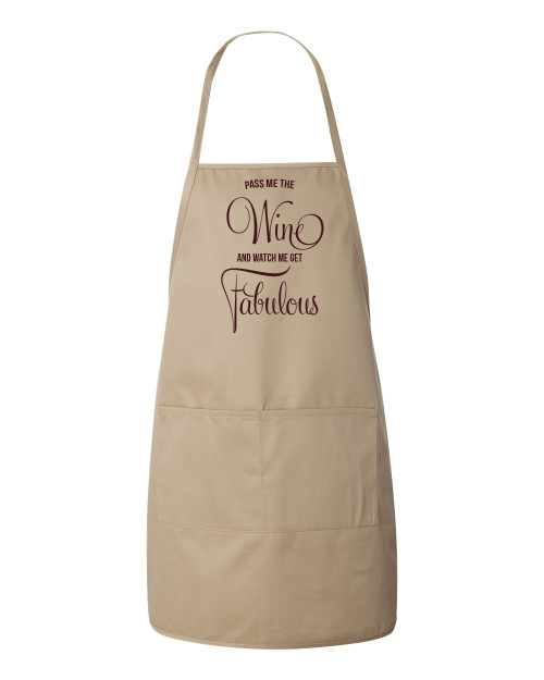 Fabulous With Wine Apron (Natural)