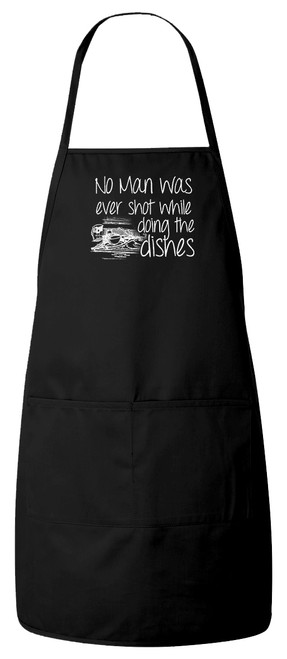 No Man Was Ever Shot... Apron (Black)