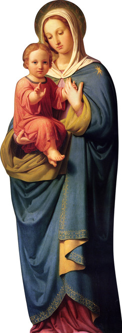 Our Lady With Child Jesus Lifesize Standee