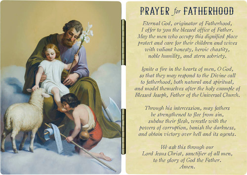 St. Joseph Prayer for Fatherhood Diptych