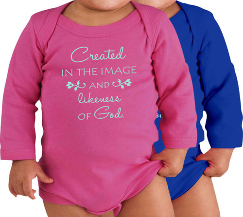 Image and Likeness of God Long-Sleeve Baby Onesie