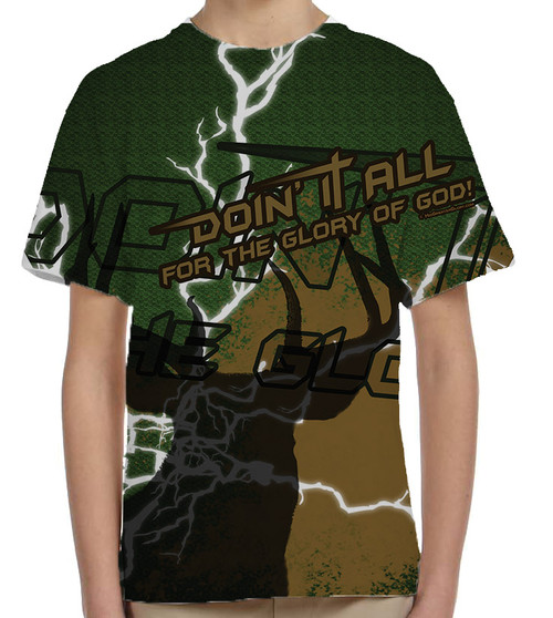 """""""Doing It All"""" Hunting Graphic Children's Poly T-Shirt"""
