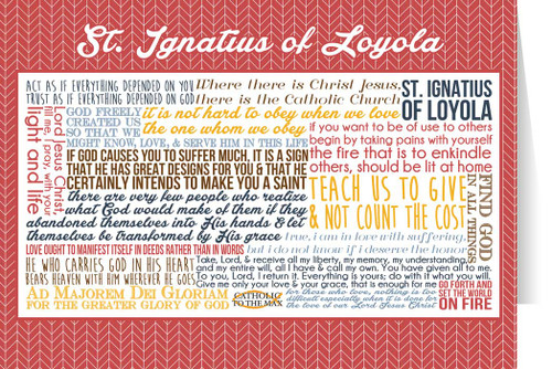Saint Ignatius of Loyola Quote Card