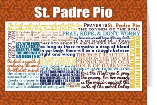 Saint Padre Pio Quote Card