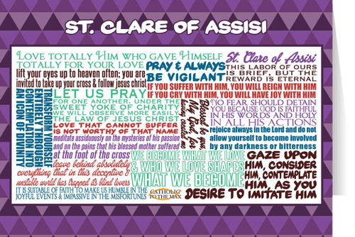 Saint Clare of Assisi Quote Card