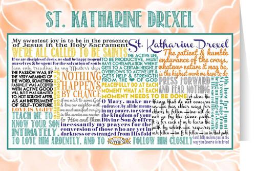 Saint Katharine Drexel Quote Card
