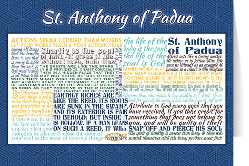 Saint Anthony of Padua Quote Card