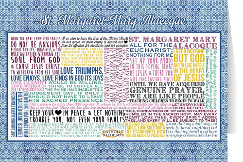 Saint Margaret Mary Alocoque Quote Card