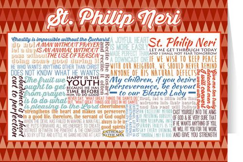 Saint Philip Neri Quote Card
