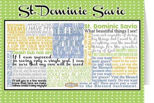 Saint Dominic Savio Quote Card