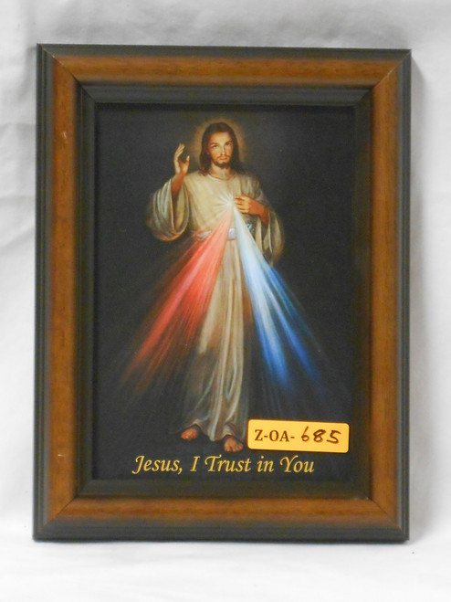 Divine Mercy 5x7 Wooden Framed Print