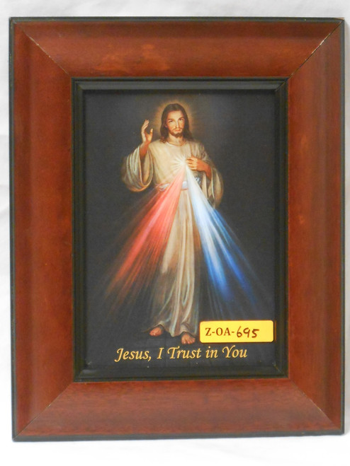 Divine Mercy 5x7 Large Wooden Framed Print