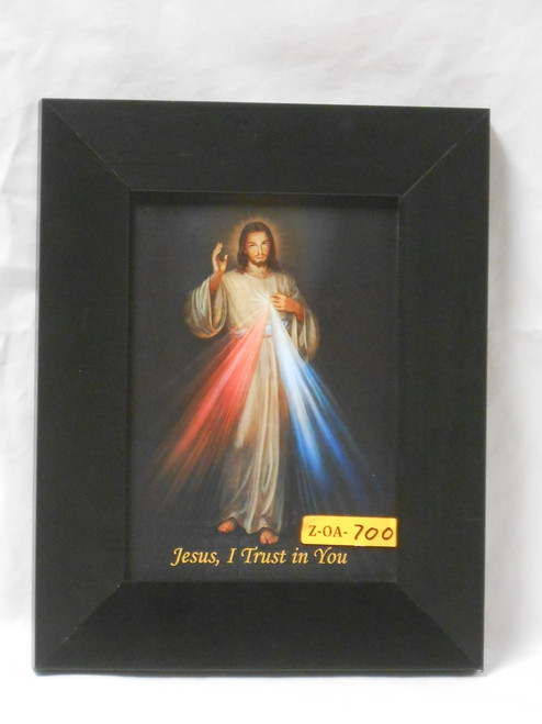 Divine Mercy 5x7 Black Framed Print