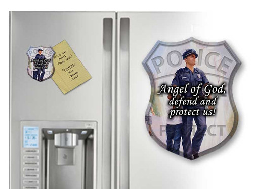 Police Guardian Angel Magnet