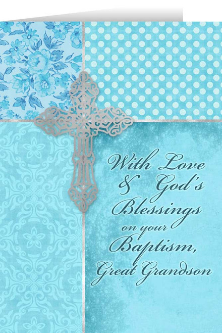 Great Grandson, On Your Baptism Greeting Card