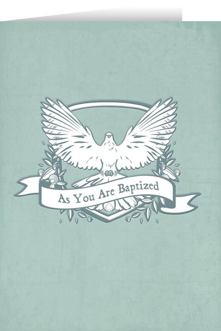 As You are Baptized Dove Baptism Greeting Card