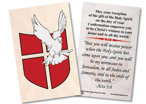 Dove Confirmation Holy Card