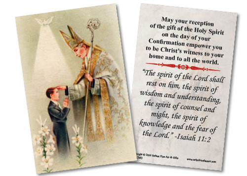 Young Man's Confirmation Holy Card