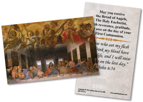 Last Supper First Communion  Holy Card