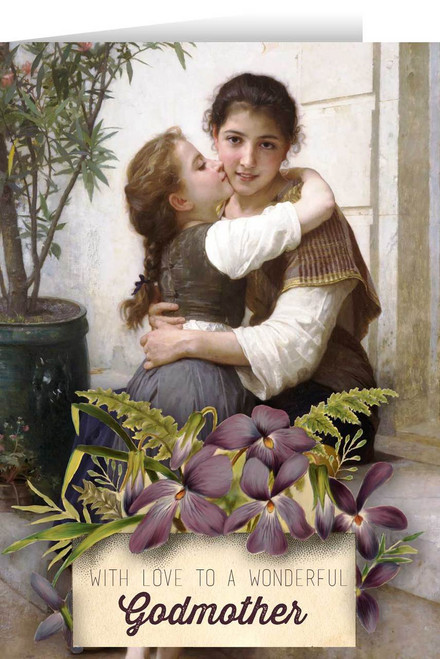 Loving Embrace Godmother Greeting Card