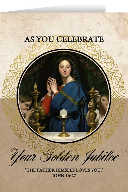 Madonna of the Host Golden Jubilee Greeting Card