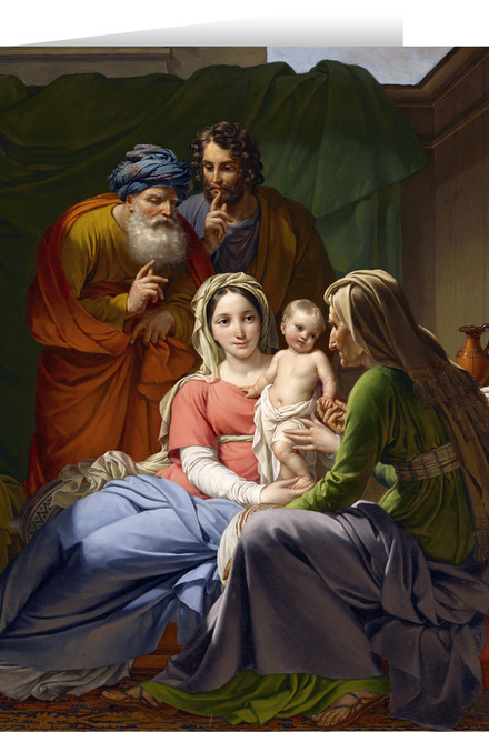 Holy Family with Grandparents Christmas Cards (25 Cards)