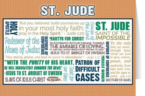 Saint Jude Quote Card