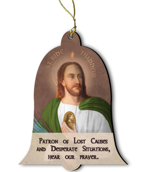 Saint Jude Wood Ornament