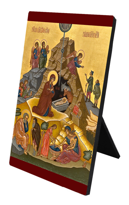 Nativity of Jesus Christ Icon Desk Plaque
