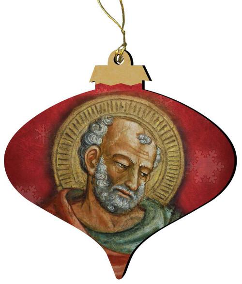 St. Jude (Older) Wood Ornament