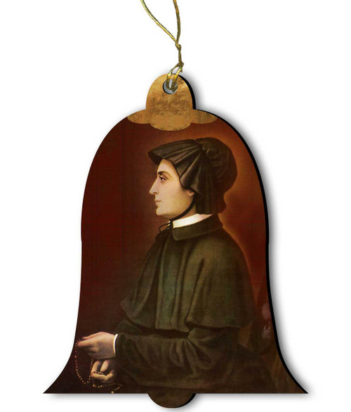 Saint Elizabeth Ann Seton Wood Ornament