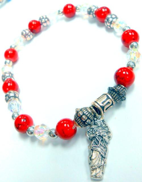 Mary Undoer of Knots Stretch Bracelet - January Birthstone