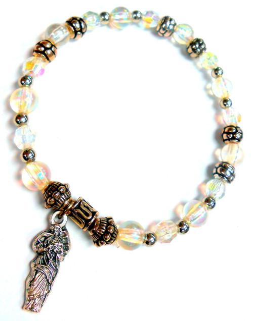 Mary Undoer of Knots Stretch Bracelet - April Birthstone