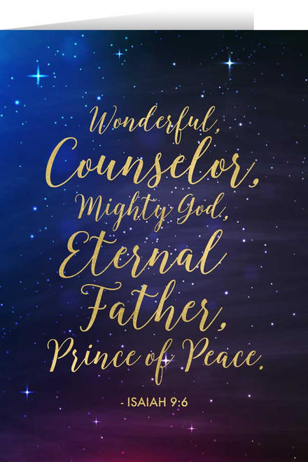Isaiah 9:6 with Starry Night Christmas Cards