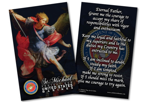 St. Michael Marine Corps Prayer Card