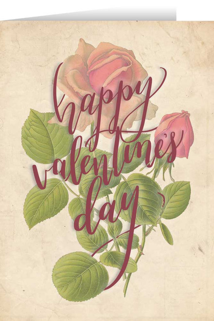 Happy Valentine's Day Rose Valentine's Day Greeting Card