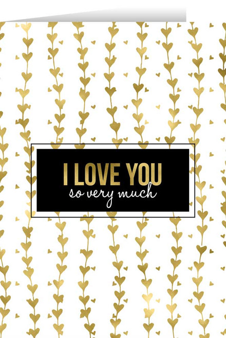 I Love You Gold Valentine's Day Greeting Card