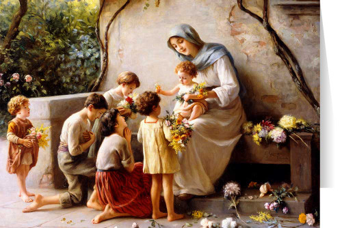 Adoration by Giuseppe Magni Greeting Card