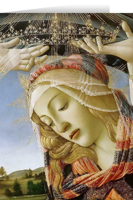 Madonna of the Magnificat (Detail) Greeting Card