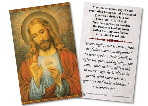 Eucharistic Ordination Holy Card